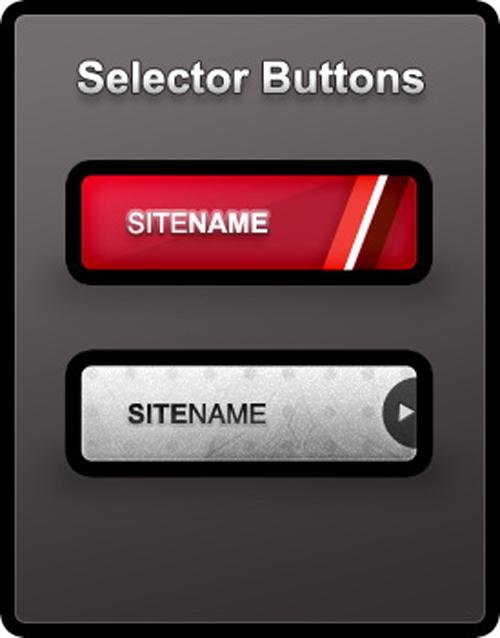 Selector Buttons psd