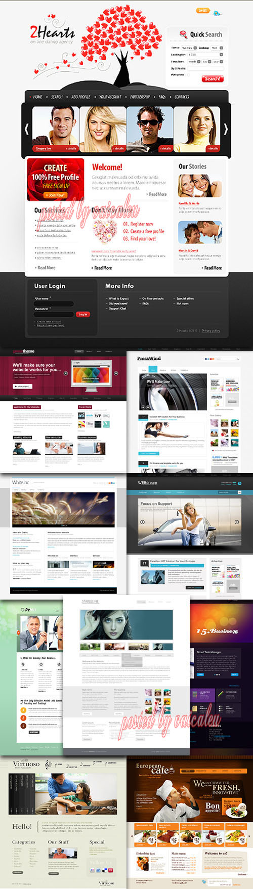 Templates Website Dynamic CSS in March P.2