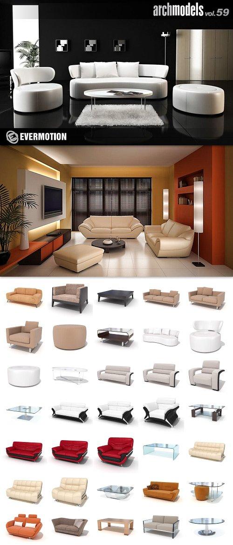 Modern Furniture Archmodels pack