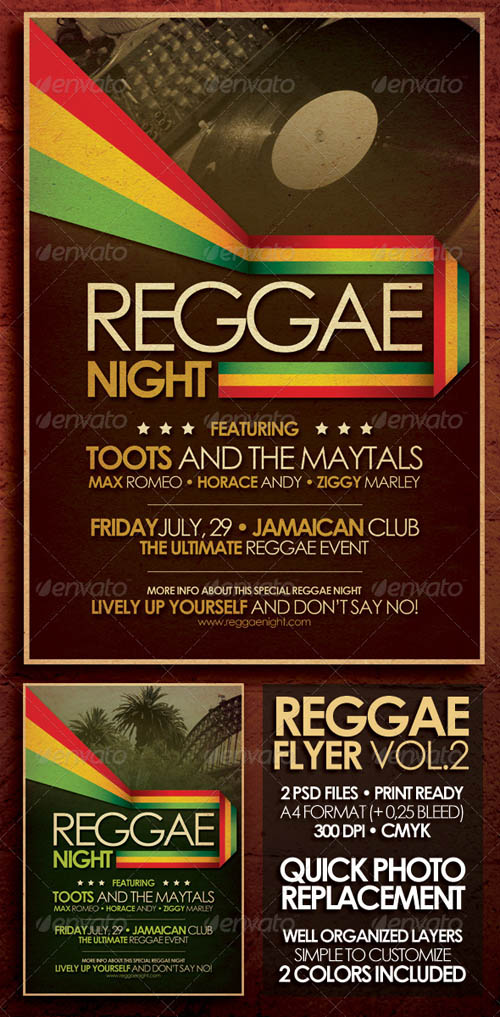 GraphicRiver Reggae Flyer/Poster Vol. 2