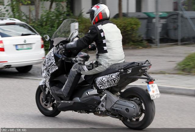 Шпионские фото скутера BMW 2012
