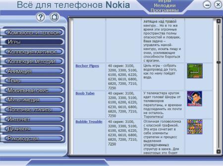 Мобильная коллекция Nokia 1.0 Русский