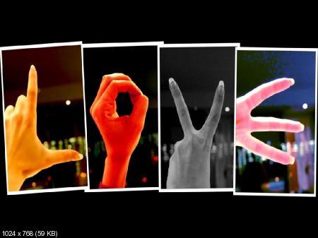 (1024х768, 128 Kb) Надпись LOVE сделанная из рук - скачать картинки на...