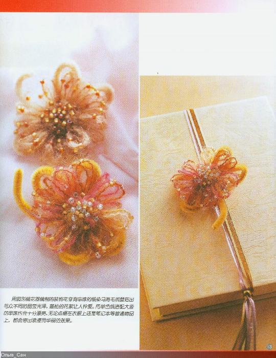 Вязание на луме цветов