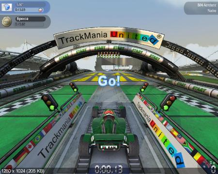 TrackMania Nations Forever 2.11.26 + Portable (2009/PC/RUS)