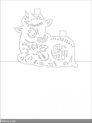 Схемы киригами (животные)